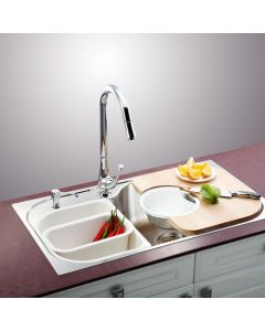 "34"" Drop In Single Bowl Stainless Steel Sink"
