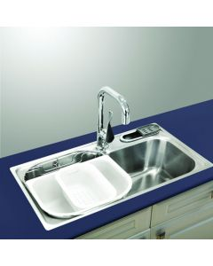 "29 ½"" Single Bowl Drop In Stainless Steel Sink"