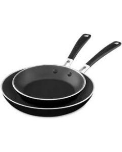 """Aluminum Nonstick 8"""" and 10"""" Skillets Twin Pack"""