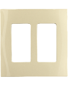 Faceplate - 2 Gang - Ivory