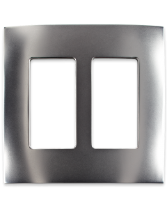 Faceplate - 2 Gang - Satin Nickel