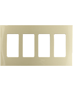 Faceplate - 4 Gang - Ivory