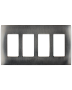 Faceplate - 4 Gang - Stainless Steel