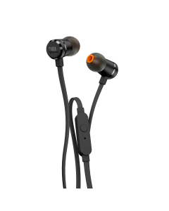 Lightweight in-ear Headphones with metal body and one-button universal remote control / microphone