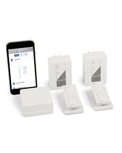 Lutron Caseta Wireless Smart Lighting Deluxe Lamp Dimmer Kit: 1 Smart Bridge, 2 Plug-In Smart Lamp Dimmers, 2 Pico Remotes, 2 Tabletop Pedestals, Works with Alexa