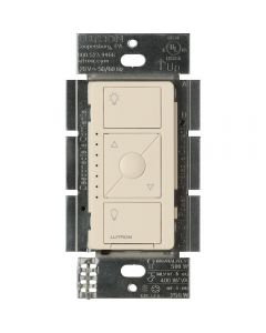 Lutron Caseta Pro In Wall Dimmer 250W LED / 1000W Incandescent/Halogen/Magnetic Low Voltage - Light Almond
