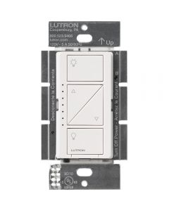 LUTRON PD-6WCL-WH Caseta Wireless In-Wall Smart Dimmer Switch, White