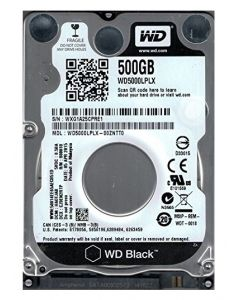 WD Black Performance Mobile Hard Drive 500GB