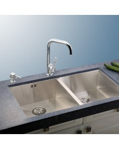 "33"" Undermount Double Bowl Stainless Steel Sink"