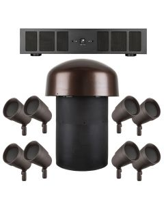 Sonance LS48 SUBV10 System with 8 LS48SAT Speakers 1 LSV10SUB and 1 DSP 2-750 Power Amplifier