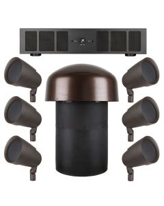Sonance LS68 SUBV10 System with 6 LS68SAT Speakers 1 LSV10SUB and 1 DSP 2-750 Power Amplifier