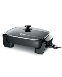 Electric Skillet With Tempered Glass Lid