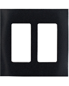 Faceplate - 2 Gang - Midnight Black