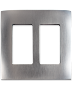 Faceplate - 2 Gang - Stainless Steel