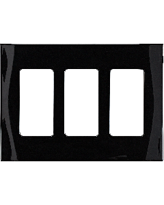 Faceplate - 3 Gang - Black