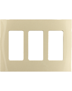 Faceplate - 3 Gang - Ivory