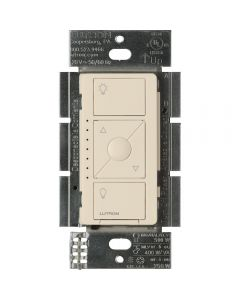 Lutron Caseta Wireless Electronic Low Voltage In-Wall Dimmer, Light Almond