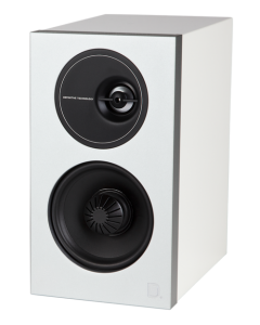 Demand Series D7 High-Performance Bookshelf Speakers (White)