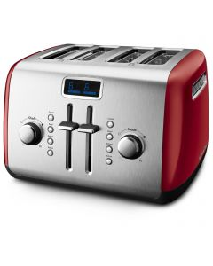 4-Slice Toaster with Manual High-Lift Lever and Digital Display
