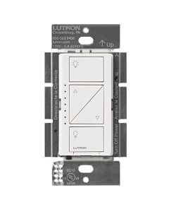 Lutron Caseta Wireless Electronic Low Voltage In-Wall Dimmer, White Grey