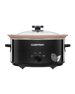 Chefman 6 Qt Slow Cooker With Natural Stoneware Crock