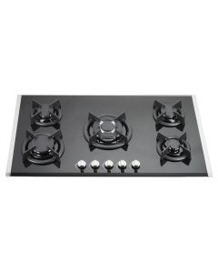 90 cm Gas Cooktop Vetro Prof. With 5 Burners Black